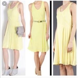 Rag and Bone 100% silk yellow dress size 4